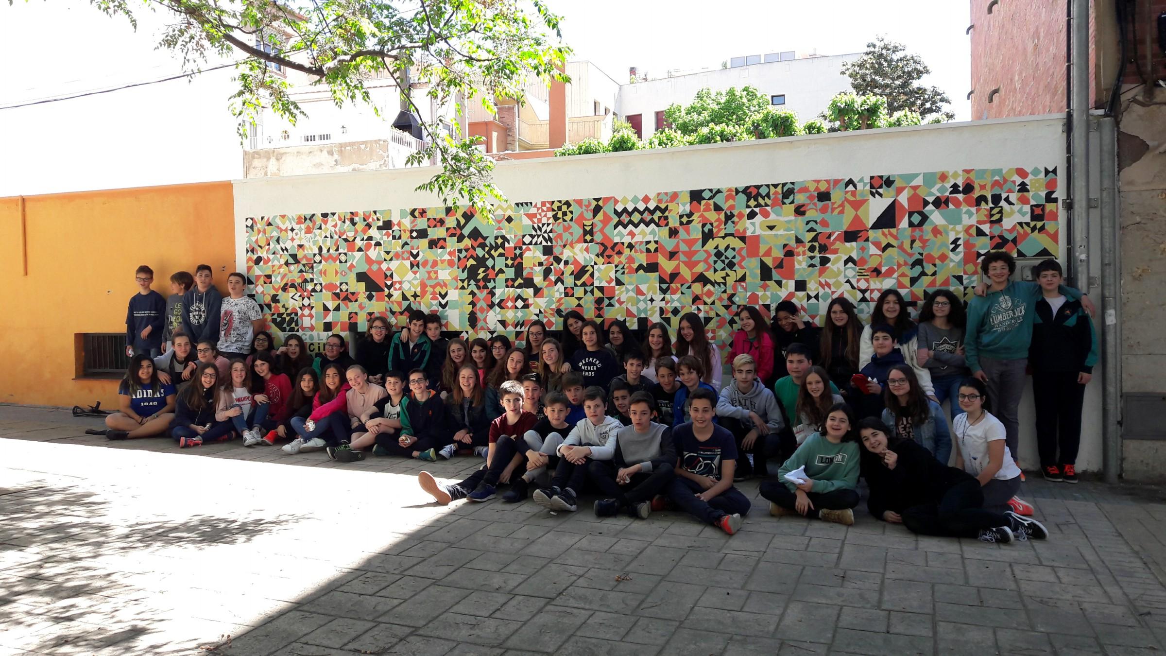 Projecte d'intervenció de l'escola en el barri, amb l'artista terrassenca Anna Taratiel.1r d'ESO.